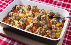 Mäsovo-syrové guľôčky v zeleninovej tapenáde