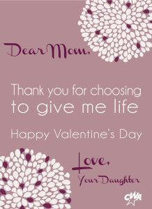 Thank you for choosing life!