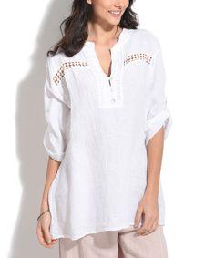 White Maya Linen Tunic
