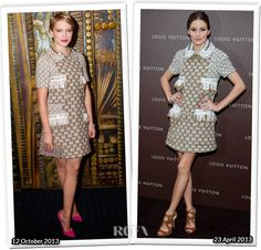 Who Wore Louis Vuitton Better Lea Seydoux or Olivia Palermo  Uh both look awful in this fugly dress
