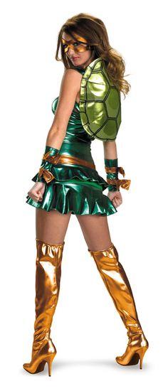 Teenage Mutant Ninja Turtles Sexy Michelangelo Adult Costume #teenage mutant ninja costumes #tnmt costumes