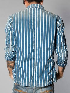 Maurice Organic Old Striped Denim - Nudie Jeans Co  indigos ... 3e3f5518644