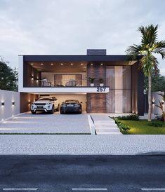 Modern Exterior House Designs, Cool House Designs, Modern House Design, Beautiful Modern Homes, Modern Contemporary Homes, House Construction Plan, Model House Plan, Home Building Design, House Front Design