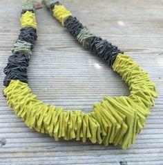 Questo articolo non è disponibile. Felt Necklace, Ceramic Necklace, Fabric Necklace, Polymer Clay Necklace, Diy Necklace, Necklaces, Leather Necklace, Bijoux Design, Schmuck Design