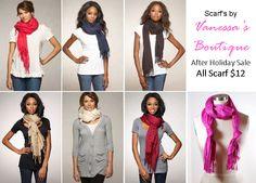 6-ways to wear your Vanessa Scarf.