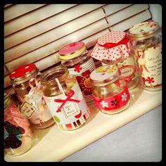 Handmade decorated jars by LisaMet64, via Flickr