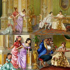 Princesas Disney retratadas em obras de arte:  The Secret Audience - Vittorio Reggianini por HollyBell (DeviantArt)