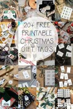 20  Free Printable Christmas Gift Tags | Finding Silver Pennies #christmasinspiration #gifttags #freeprintables #watercolor