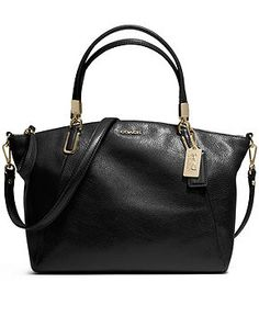 COACH MADISON SMALL KELSEY SATCHEL IN LEATHER - COACH - Handbags & Accessories - Macy's