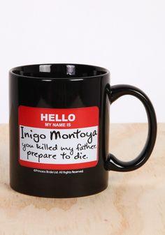 PRINCESS BRIDE Inigo Montoya Nametag Mug