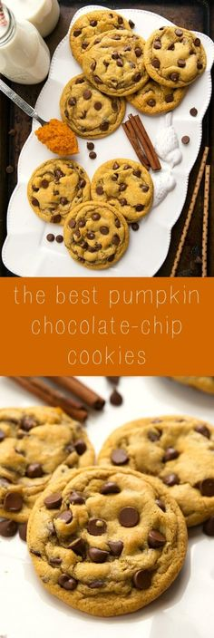 Non-Cakey Pumpkin Spice Cookies one bowl and no mixers required! Pumkin Cookies Recipes, Cake Mix Pumpkin Cookies, Healthy Pumpkin Cookies, Easy Pumpkin Recipes, Baking Cookies, Pumpkin Spice Cake, Fall Cookies, Pumpkin Pumpkin, Homemade Cookies