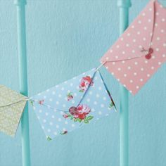 envelope garland