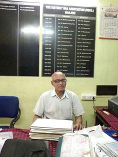Advocate Jayaprakash Mallay sitting in the office of District Bar Association at Manjeri.