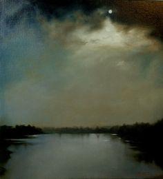 Hammersmith River by Nicola Pappalettera Artfinder Nocturne, Landscape Art, Landscape Paintings, Moonlight Painting, River Painting, Seen, Wow Art, Art For Art Sake, Seascape Paintings