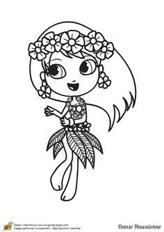 61 meilleures images du tableau coloriages de danse - Coloriage tahiti ...