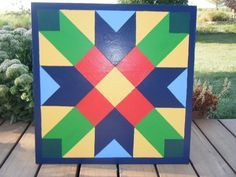 This is lovely! Buggy Barn Quilt Patterns, Quilt Block Patterns, Pattern Blocks, Quilt Blocks, Barn Quilt Designs, Quilting Designs, Painted Barn Quilts, Barn Signs, Block Painting