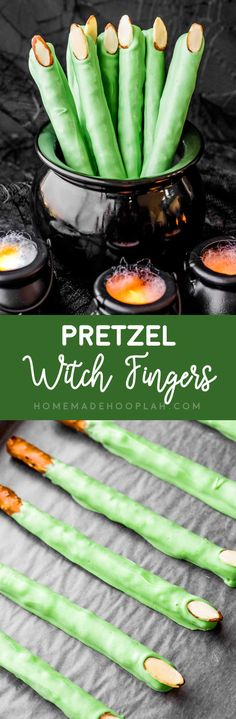 Let's Celebrate // Pretzel Witch Fingers! Large pretzels covered in white candy coating that just happen to look like witch fingers. They're very easy to make and perfect for any witchy party! Casa Halloween, Halloween Goodies, Halloween Food For Party, Halloween Birthday, Happy Halloween, Halloween Stuff, Halloween Witches, Halloween 2017, Halloween Appetizers