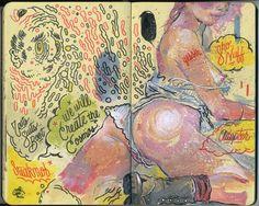 Andres Guzman    All My Pistachios - Sketchbook illustrations #pastel #watercolor #pen #ink #doodles