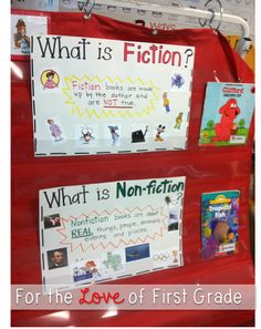 Fiction or Non-Fiction? Make an anchor chart together as a class!