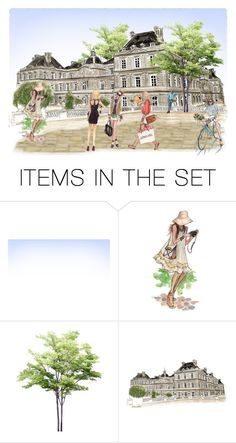 """""""Summer Day In Paris"""" by sjlew ❤ liked on Polyvore featuring art"""