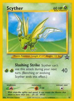 Scyther (Wizards Black Star Promos 45) - Grass - 60 HP - Basic - Artist: Hironobu Yoshida.
