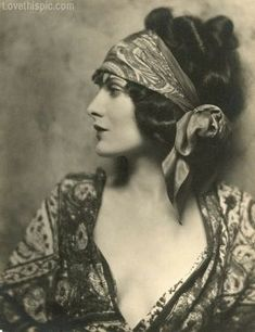 Vintage Gypsy fashion photography vintage photo old style scarf gypsy fortune teller