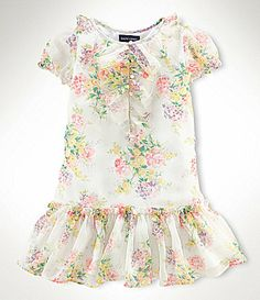 4447f9f96d Ralph Lauren Childrenswear 2T-6X Floral Printed Chiffon Dress Cupboard For  Clothes