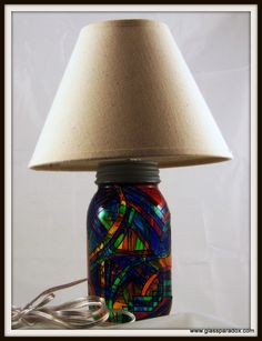 Brite Lamp - Glass Paradox These lamps accent any room and add a warm glow to a darkened corner. With several designs to choose from, you can have one in every room!