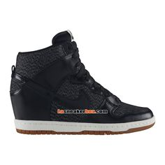 Women's Nike Wmns Dunk Sky Hi Mesh Black Sail Sneakers : Y100v5237