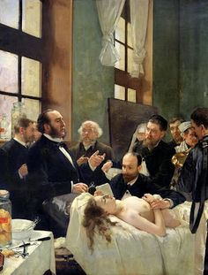 Henri Gervex Before the Operation, with Dr. Pean (1887)