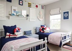 "Interior Design Ideas - ""Blue Sailor Themed Boys' Bedroom"""