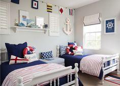 "Interior Design Ideas - ""Blue Sailor Themed Boys' Bedroom"""
