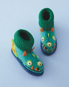 Kids' Boiled Wool Slipper Boots, Sizes 04-4 - Garnet Hill