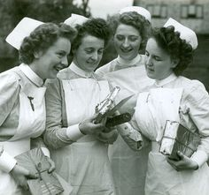 History of Nursing Profession. Newly qualified nurses in 1949.