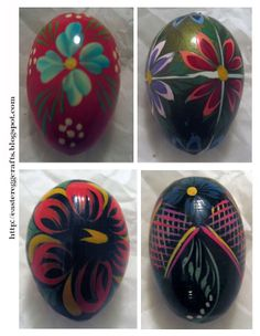 Easter Egg Crafts: Read About Rosemåling on Wooden Eggs