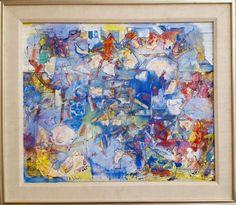 Artist: Alexandre Istrati (1915-1991) Title: Medium: Oil on Canvas Size: 21 x 25…