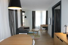Suite, Swissôtel, Amsterdam www.swissotel.com/Amsterdam Visit Amsterdam, Cities In Europe, Curtains, Table, Furniture, Home Decor, Blinds, Decoration Home, Room Decor