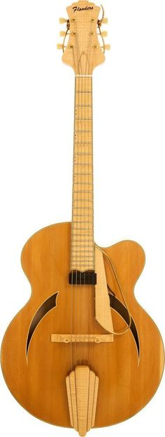 Musical Instruments:Electric Guitars, 1995 Flanders Executive Natural Archtop Electric Guitar, Serial #41.... Image #1