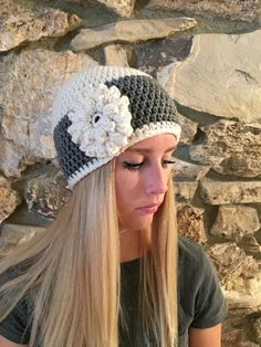 Crochet Beanie Hat Winter Hat Shell Beanie Skull by CalmBeforeDawn