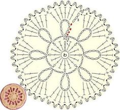 모티브도안100 / 코바늘 원형 모티브 무료도안 Crochet Shawl Diagram, Crochet Beanie Pattern, Crochet Flower Patterns, Crochet Stitches Patterns, Crochet Chart, Crochet Motif, Diy Crochet, Crochet Doilies, Crochet Flowers