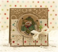 Groovy Snowman Card Ensemble... - Just Give Me Stamps...