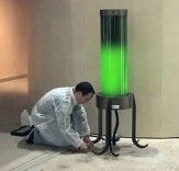 Cool! Living Microalgae Lamp Absorbs CO2 from the Air!