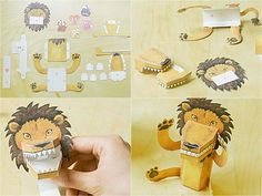 squeeze activated paper lion from www.karikama.com