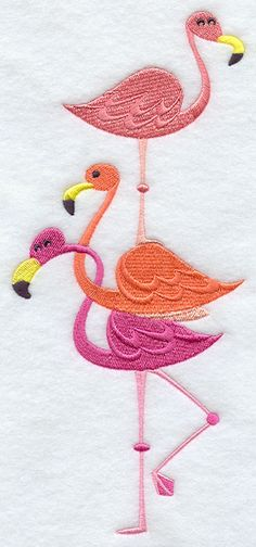 Pretty In Pink Flamingoes Stack
