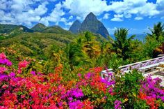 St. Lucia is frequently visited by honeymooners. But all tourists enjoy the gorgeous scenery, year-r... - Thinkstock