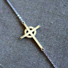 Our Celtic Sideways Cross bracelet is a must have jewelry trend. Our Celtic Sideways Cross Necklace is a simple beauty. Sideways Cross Jewelry, Irish Jewelry, Gold Labels, Diamond Hoop Earrings, Jewelry Companies, Jewelry Trends, Celtic, Jewelry Gifts, Jewelry Making