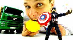 Первый Мститель Капитан Америка в больнице! Игрушки для мальчиков. Лечим...