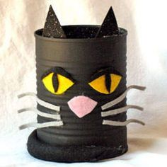 Tin Can Black Cat