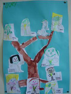 Geweldige teken-collage opdracht verwerkt in een geschilderde (stam)boom.; de…