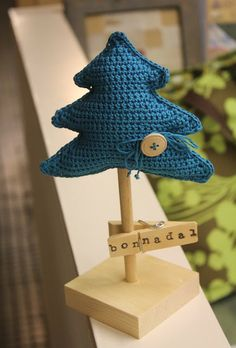 Sew ornaments out of thrift store sweaters? Crochet Christmas Trees, Holiday Crochet, Christmas Ornament Crafts, Noel Christmas, Merry Little Christmas, Christmas Knitting, Christmas Crafts, Crochet Crafts, Yarn Crafts